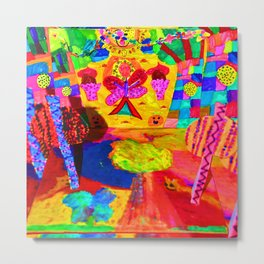 Colorful Feast | Kids Painting Metal Print