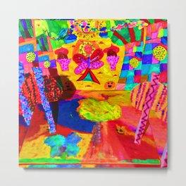 Colorful Feast   Kids Painting Metal Print