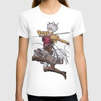 attack on titan T-shirts featuring Yoshimi Titan attack by ChiyoArts