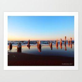 Reflected Remains on the Beach Art Print