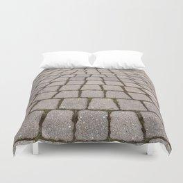 Radial Pavement Tiles Duvet Cover