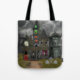 Halloween Haunted Mansion Tote Bag