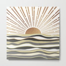 Sun Breeze-Vanilla shade Metal Print