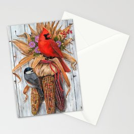 Birds & Indian Corn Stationery Cards