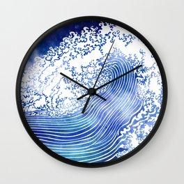 Pacific Waves II Wall Clock