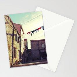Croatian clothesline Stationery Cards