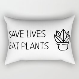 Save lives eat plants Rectangular Pillow