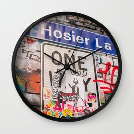 Hosier Lane Street Graffiti Melbourne Printable Wall Art | Australia Urban City Photography Print Wall Clock
