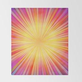 Rays of sunshine Throw Blanket