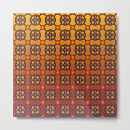 From the Ashes Geometric Seamless Pattern Metal Print