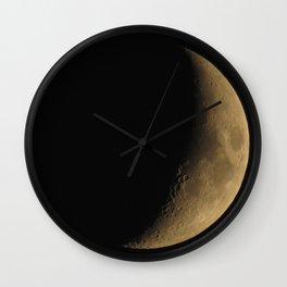 Waxing Cresent Moon 2 Wall Clock