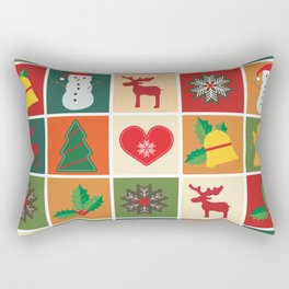Holiday Cheer Christmas Rectangular Pillow