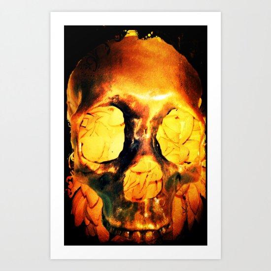Flores Por Los Muertos. Art Print