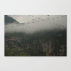 Foggy Mountains Canvas Print