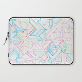 90s Inspired Print // GEOMETRIC PASTEL BRIGHT SHAPES PATTERN GRAPHIC DESIGN Laptop Sleeve