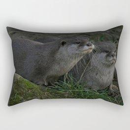 Otter Pair Rectangular Pillow