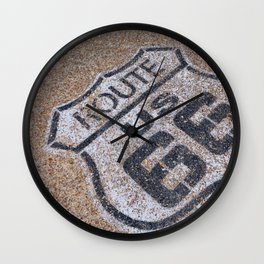 The mythical Route 66 sign in California, USA. Wall Clock