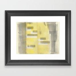 Stasis Gray & Gold 1 Framed Art Print
