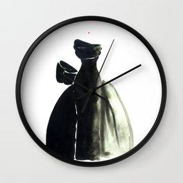 Long Black Couture Dress Wall Clock