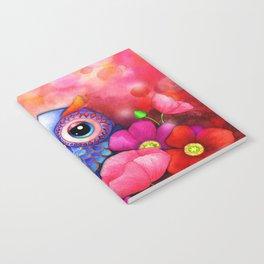 Owl in Poppy Field Notebook