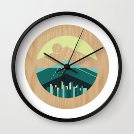 Wooded Trackless Grasslands Wall Clock