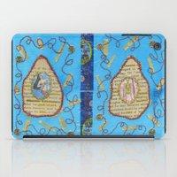 literature iPad Cases featuring Obscene Literature by mel b textiles