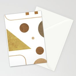 Subtle Opulence - Minimal Geometric Abstract - White 3 Stationery Cards