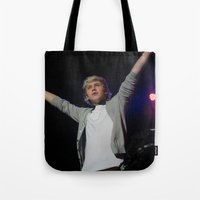 niall horan Tote Bags featuring Niall Horan by lackofabettername123
