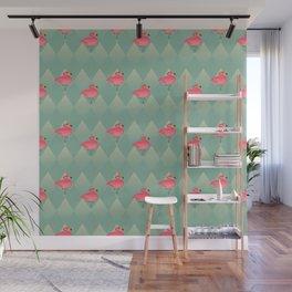 Sugar Flamingo Pattern Wall Mural