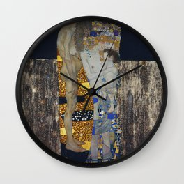 The Three Ages Of Woman Gustav Klimt Wall Clock