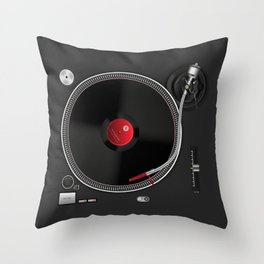 Turntable Throw Pillow