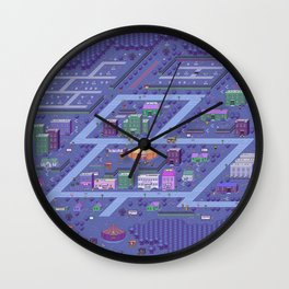Earthbound Threed Map Wall Clock