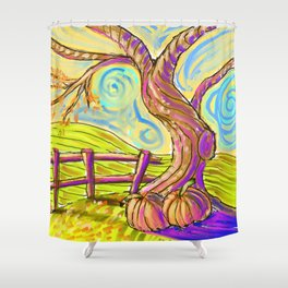 Fall On The Hill Shower Curtain