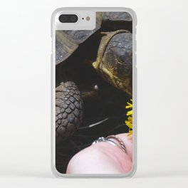 Flower Eater Clear iPhone Case