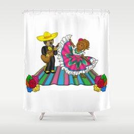 A La Fiesta Shower Curtain