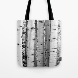 Into the Woods / Black & White Tote Bag