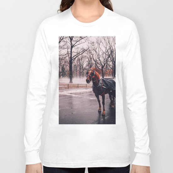 NYC Horse and Carriage Long Sleeve T-shirt