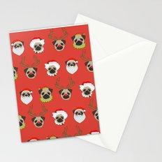 Xmas Pugs Stationery Cards