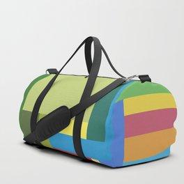 Green Geometry Duffle Bag