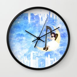 Harp girl 5: Connection Wall Clock