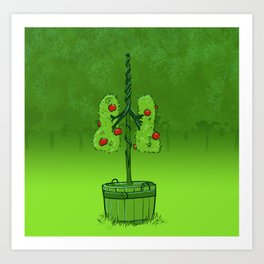 Breathing apples — lung topiary Art Print