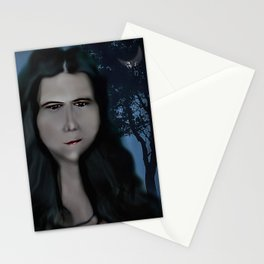 Mysterious Girl With A Long Neck. Stationery Cards
