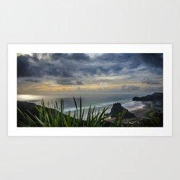 Moody Skies Over Piha Art Print