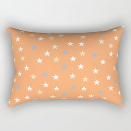Peach Pastel Background With Stars Rectangular Pillow