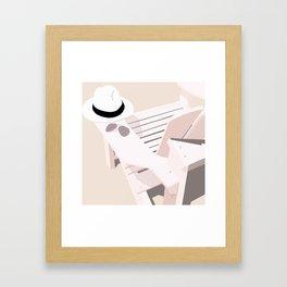 Monotoned beachday Framed Art Print