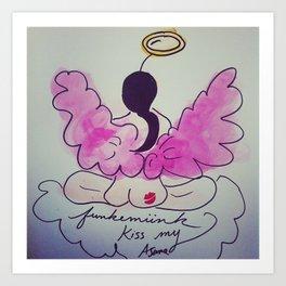 Veronica, The Angel of Kiss my Asana Art Print