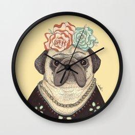 Frida Pug Kahlo Wall Clock