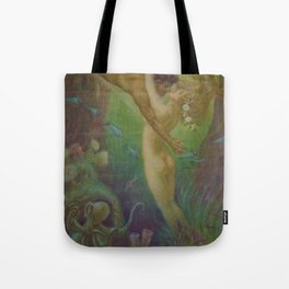 Undersea, The Mermaids Embrace by Frederic Helbing Tote Bag