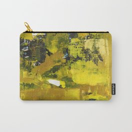 Waiter Yellow Abstract Modern Art Painting Carry-All Pouch