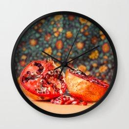 Pomegranate Wall Clock
